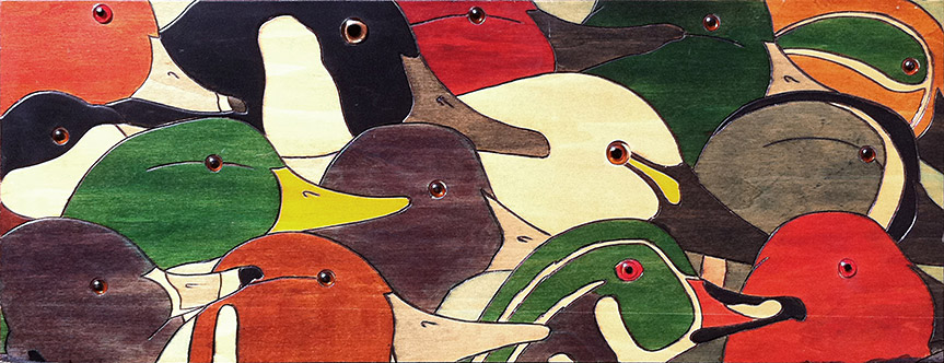 Painting of Ducks and Geese by Philip Juras