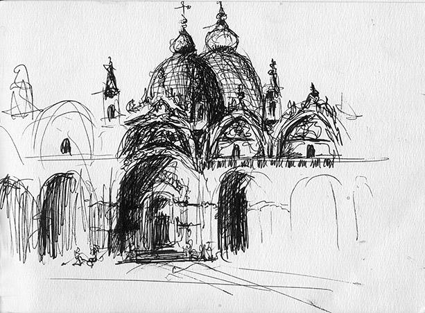 Drawing of Piaza San Marco