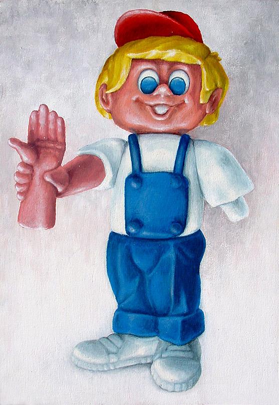 Painting of Plastic Dan Sorpresa