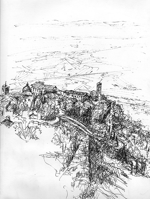 Drawing of View from the Wall