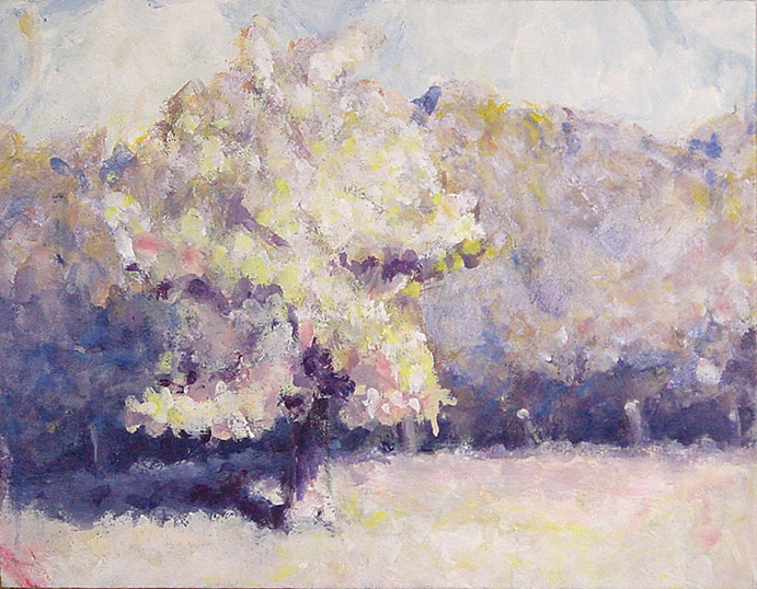 Painting of Tree in a Field by Philip Juras