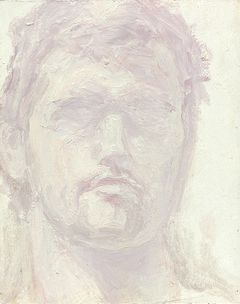 Painting of Self Portrait (Pink) by Philip Juras
