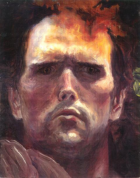 Painting of Self Portrait (Roman) by Philip Juras