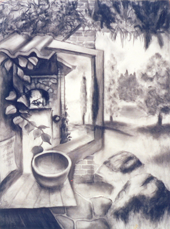 Drawing of Imagined Landscape by Philip Juras.