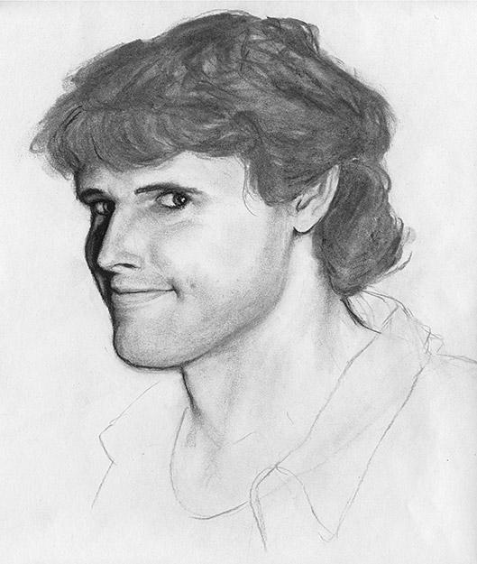 Drawing of Self Portrait 1 by Philip Juras