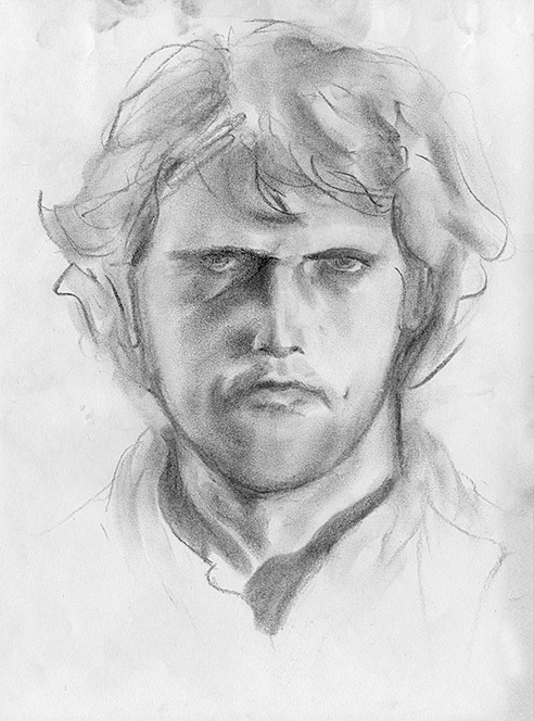 Drawing of Self Portrait 2 by Philip Juras