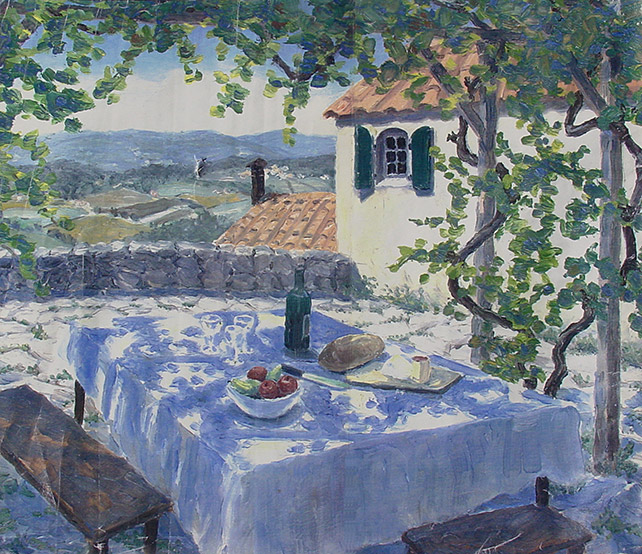 Painting of Dreaming of Italy by Philip Juras