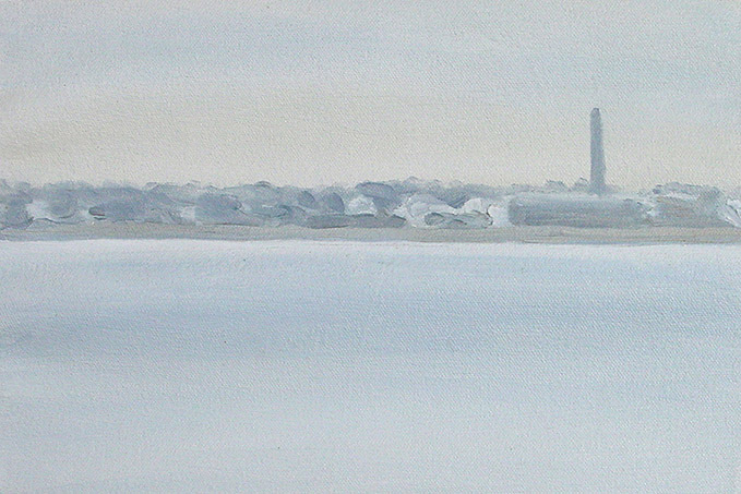 Painting of New Bedford Harbor 3