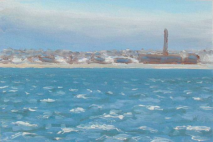 Painting of New Bedford Harbor 4
