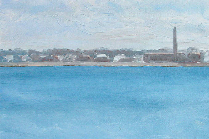 Painting of New Bedford Harbor 6