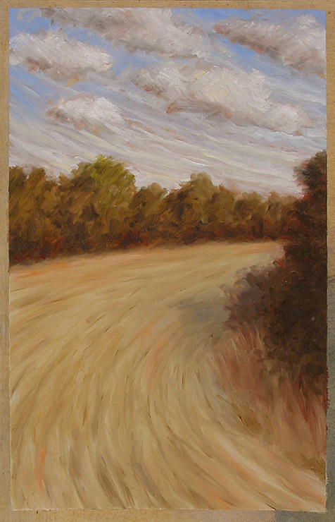Painting of Dream Field by Philip Juras