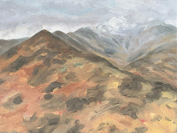 Painting of Mount Adams by Philip Juras