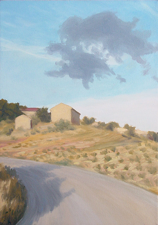 Painting of Road in Tuscany