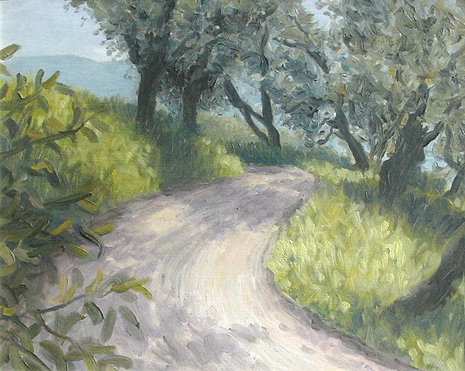 Painting of Ligurian Road