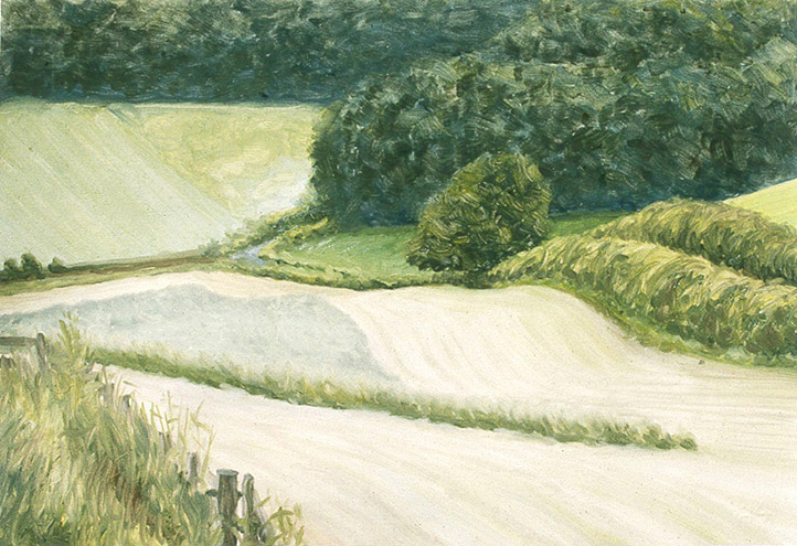 Painting of Road to Bockmer End (Lower Wood End)