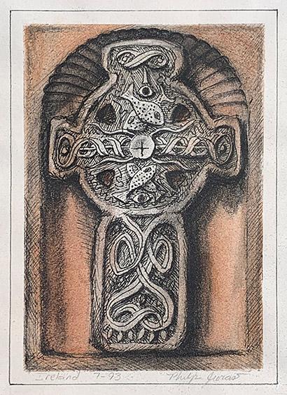 Drawing of Celtic Cross #1 by Philip Juras