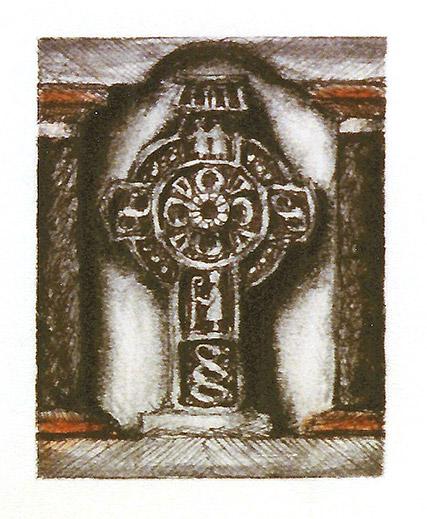 Drawing of Celtic Cross #2 Italien by Philip Juras