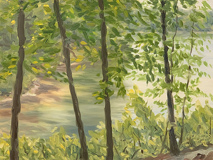 Painting of Walden Pond
