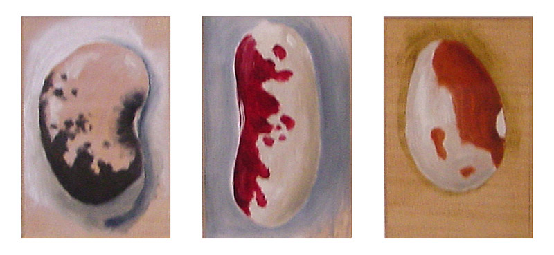Painting of Three Beans by Philip Juras