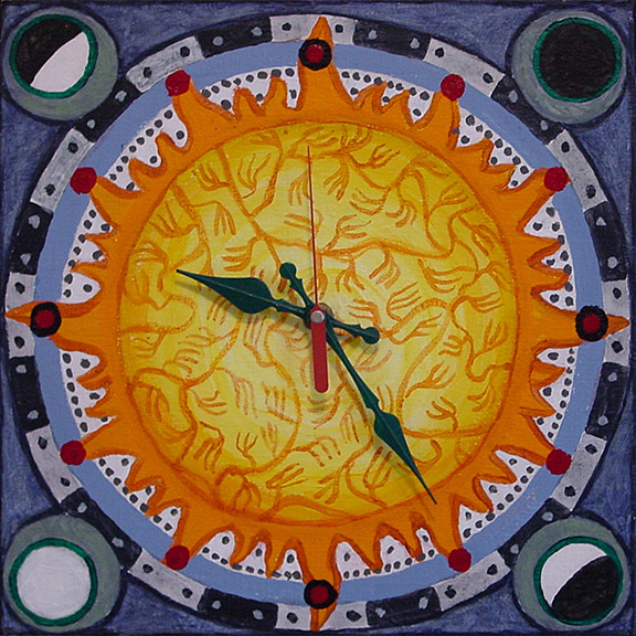 Painting of Clock by Philip Juras