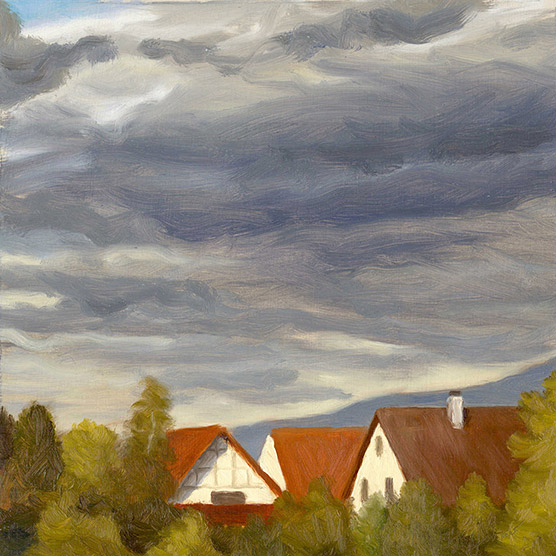 Painting of Holzhausen from the Balcony