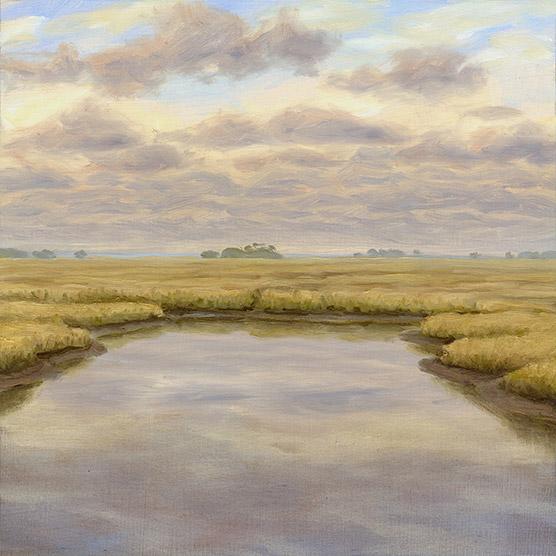 Painting of Gulf Coast Marsh 3