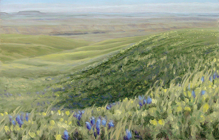 Painting of Smith River Rangeland