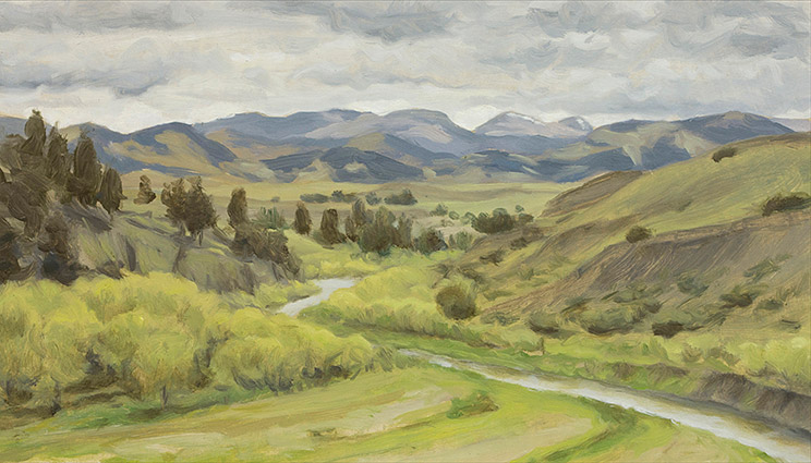 Painting of The Front Range