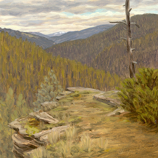 Painting of Cabin Cliff