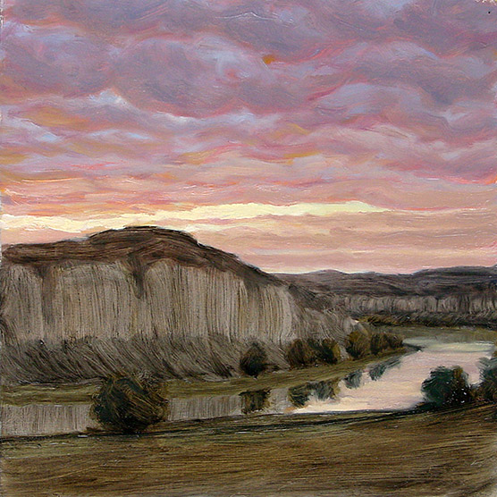 Painting of White Cliffs Sunset