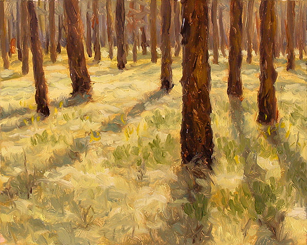 Painting of Long Leaf in the Big Woods