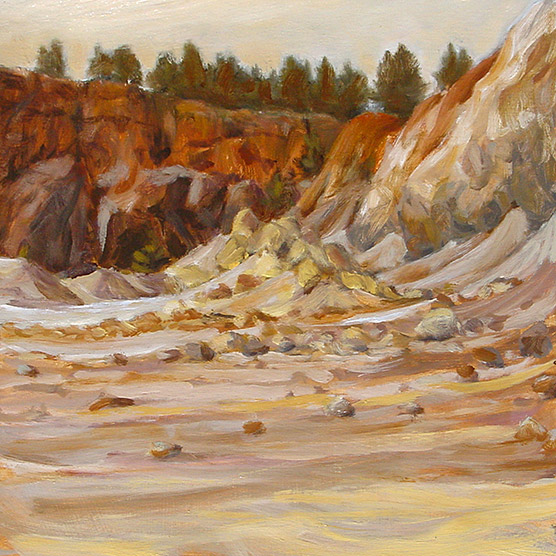 Painting of Graves Mountain Strip Mine