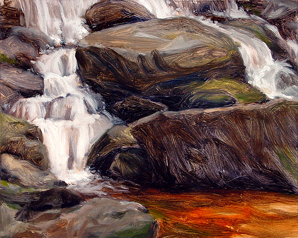 Painting of Desoto Falls