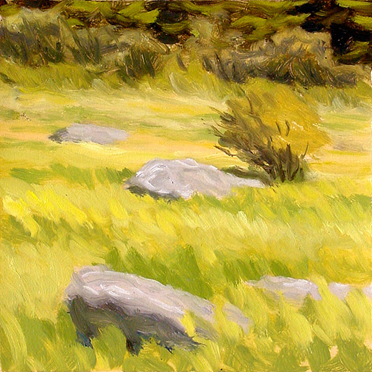 Painting of Edge of the Grassy Bald