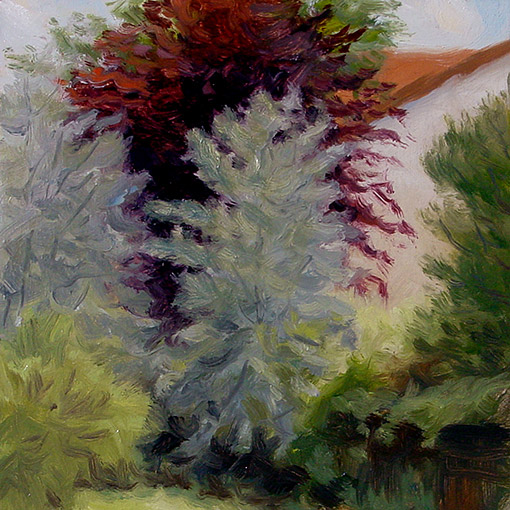 Painting of Garden Trees