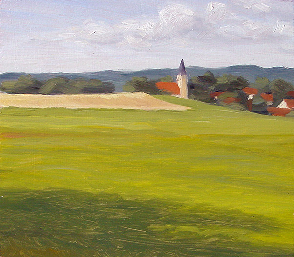 Painting of Glonn Fields
