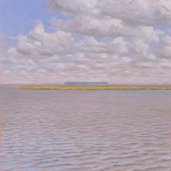 Painting of Buzzard Island from Fields Point
