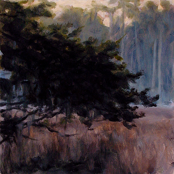 Painting of Cedar by a Slough