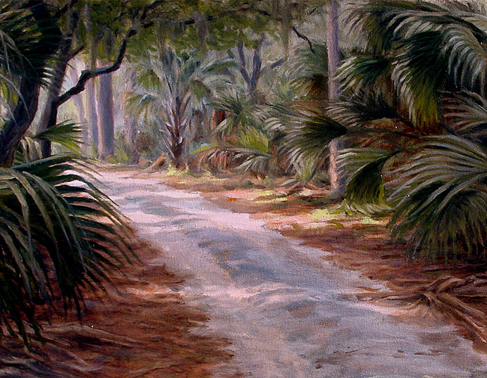 Painting of Road to the Main House