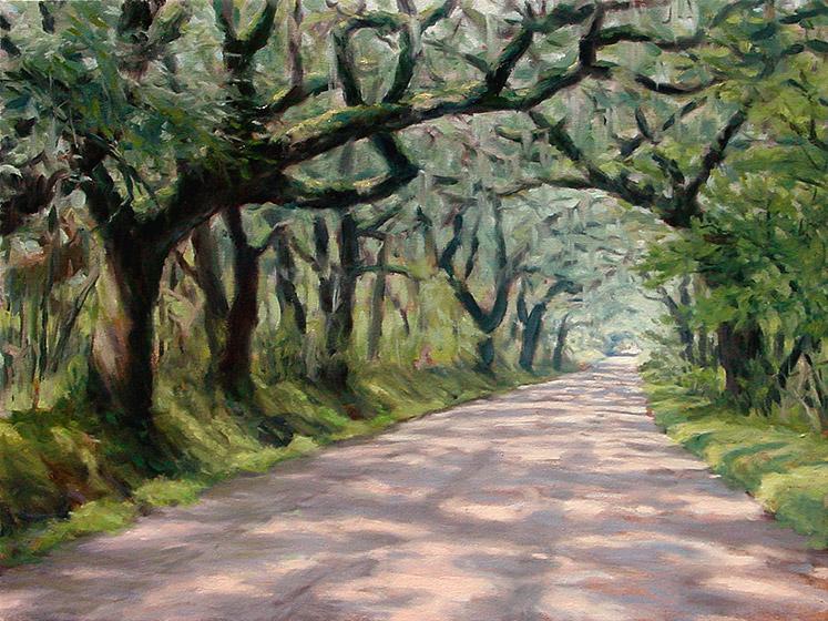Painting of Botany Bay Road