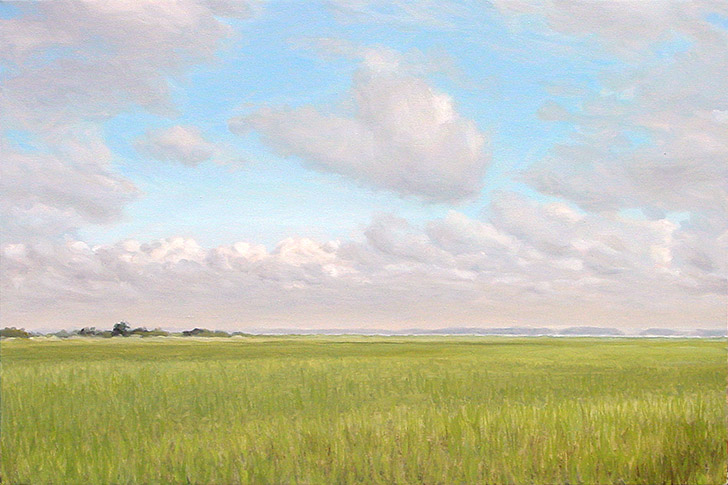 Painting of Marsh by Steamboat Landing