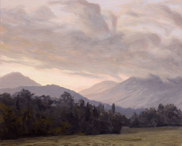Painting of Sunlit Valley
