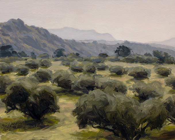 Painting of Olive Grove