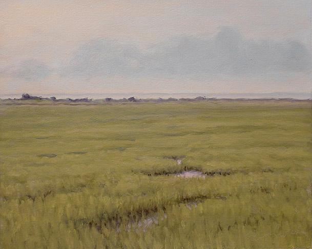 Painting of Johnson Creek Marsh