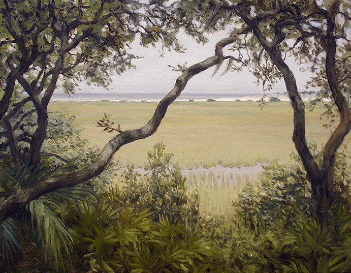Painting of View to Hunting Island Dunes
