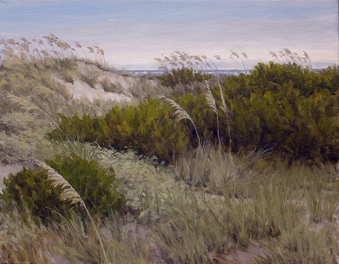 Painting of Dunes at Dusk