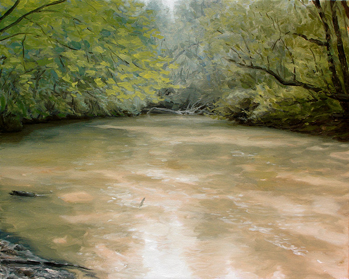 Painting of North Oconee River