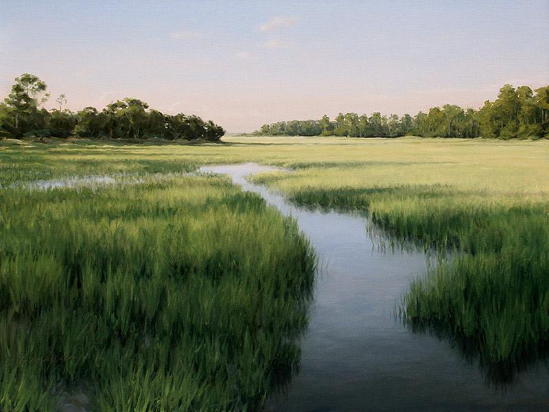 Painting of Hunting Island Marsh