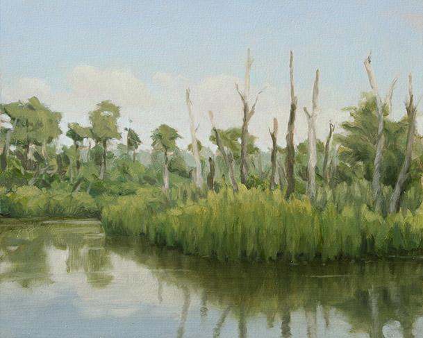 Painting of Cuckold Creek Study