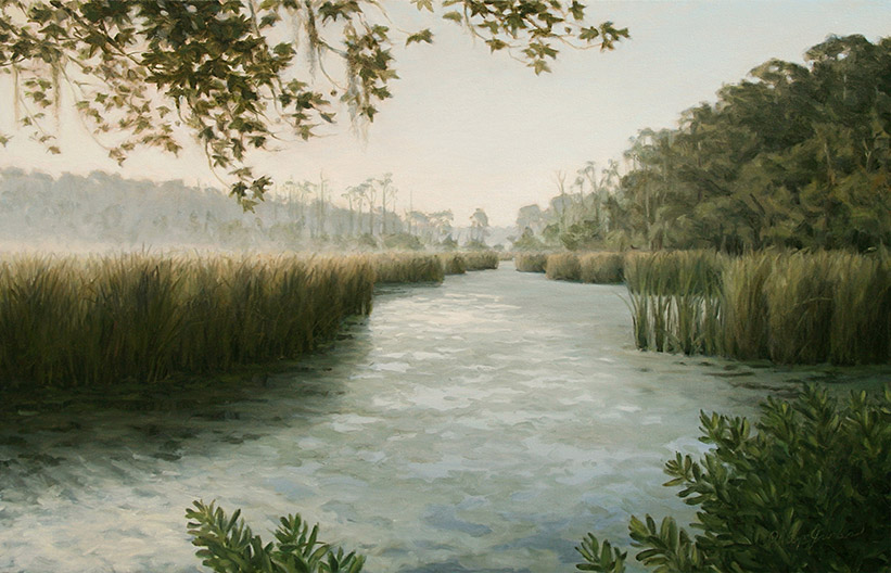 Painting of Old Rice Field